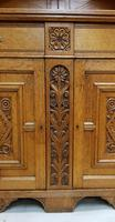 Oak Arts & Crafts Aesthetic, Cabinet Bookcase (7 of 10)