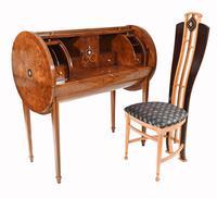 Art Deco Roll Top Desk & Chair Set 1920s (4 of 16)