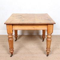 19th Century Pine Dining Table Fitted Drawer (2 of 11)