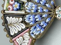 Micro Mosaic Fan Shaped Brooch (2 of 11)