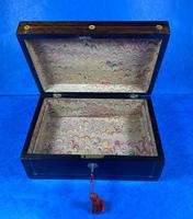 William IV Rosewood Jewellery Box With Mother Of Pearl Inlay (5 of 17)