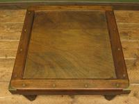 Vintage Colonial Style Low Coffee Table with Brass Details, Nautical Table (3 of 12)