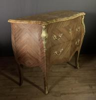 Superb Bleached Walnut Bombe Commode (6 of 9)