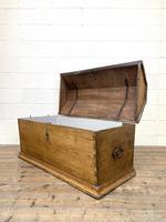 19th Century Antique Oak Dome Top Trunk (12 of 13)