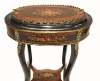 French Side Table Stand Marquetry Inlay c.1880 (10 of 13)