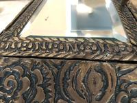 Antique Repousse Detail Cushion Mirror (9 of 10)