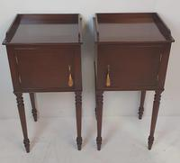 Pair of 20th Century Mahogany Bedside Tables (3 of 3)