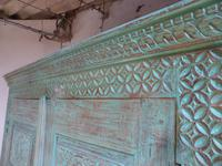 Handmade Indian Mango & Teak Large Painted Green 2 Door Storage Cupboard (6 of 12)