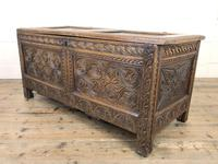 Antique 17th Century Carved Oak Coffer (9 of 10)