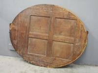 Gilded Walnut Oval Overmantel Mirror (11 of 11)