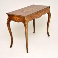 Antique Victorian Marquetry Top Console Table (5 of 12)