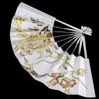 Vintage Japanese Solid Silver Fan Sensu/o-gi c.1960 (7 of 14)