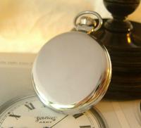 Vintage Pocket Watch 1955 Services Army Two Tone Dial Chrome Case FWO (6 of 10)