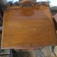Antique Edwardian Satinwood Bedside Table Night Stand (4 of 7)