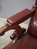 William IV Mahogany and Burgundy Leather Armchair (10 of 12)