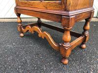Antique Slim Glazed Oak Bookcase (7 of 11)