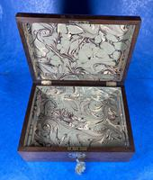 Victorian Walnut Jewellery Box with Inlay (15 of 15)