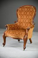 Antique Victorian Mahogany Armchair & Footstool (9 of 12)