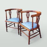 Edwardian Mahogany Salon Suite (5 of 7)