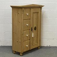 Antique Pine Bread Cupboard with Deep Drawers (5 of 6)