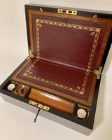 Antique Victorian Mahogany Writing Slope (10 of 12)