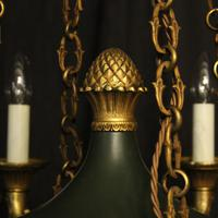 French Bronze Empire 8 Light Antique Chandelier (5 of 7)