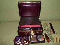 Quality Edge Bound Rosewood Gents Fitted Dressing Box c.1850 (11 of 16)