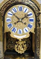 French Louis XIV Style Boulle Mantel Clock by Samuel Marti (3 of 9)