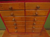 Antique Miniature Scratch Built Bank of Drawers, made from Jamaican Cigar Boxes (15 of 19)