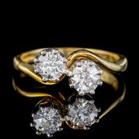 Antique Edwardian 1ct Diamond Twist Ring 18ct Gold Circa 1910 (9 of 9)