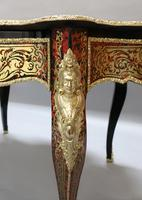 French Napoleon III Louis XV Style Boulle Writing or Centre Table (8 of 16)