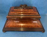 Victorian Burr Cedar & Ebony Shaped Tea Caddy (7 of 20)