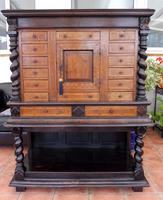 Dutch Walnut Collectors Cabinet on Stand 1720