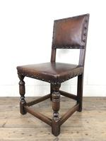 Set of 4 Early 20th Century Leather Dining Chairs (6 of 10)