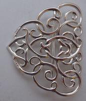 Edwardian Chester 1901 Hallmarked Solid Silver Nurses Belt Buckle Rare (5 of 6)