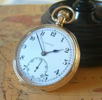 Swiss Vertex Pocket Watch 1926 15 Jewel 10ct Rose Gold Filled Case FWO (3 of 12)