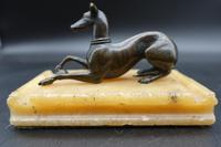 Early 20th Century Paperweight with a Well Modelled Figure of a Greyhound (2 of 6)