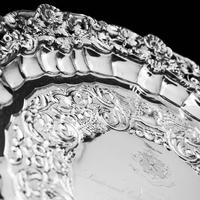 Magnificent Georgian Sterling Silver Tray / Salver with Military Lieutenant Interest - James Fray 1833 (5 of 23)