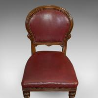 Pair of Antique Chairs, Walnut, Leather, Seat, Doveston, Bird & Hull, Victorian (11 of 12)