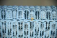 Blue Wicker Sofa (5 of 10)