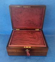 William IV Rosewood Jewellery Box with Mother of Pearl Inlay (9 of 12)