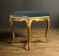 Beautiful French Giltwood Dressing Table Stool (3 of 12)