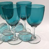 6 Victorian Green Drinking Glasses (2 of 5)