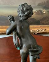 Fine Large 19th Century Antique Solid Bronze Cherub Sculpture Statue Figurine (10 of 13)