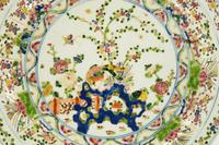Mid 19th Century Porcelain Chinese Charger with Enamelled Decoration (2 of 5)