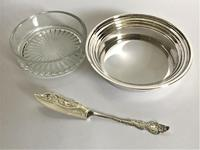 Lovely Boxed Silver Butter Dish with Knife (5 of 7)