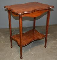Mahogany Inlaid Occasional Table (3 of 4)