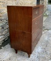 Antique Military Campaign Teak Chest of Drawers (3 of 21)
