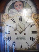 Fine English Longcase Clock D Cowed Manchester 8-day Striking Grandfather Clock Solid Mahogany Case (10 of 19)