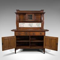 Large Antique Sideboard, English, Oak, Dresser, Cabinet, Liberty & Co, Victorian (3 of 12)